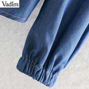 Image 5 - Vadim 女性甘いレースパッチワークブラウス長袖フリルかわいいシャツ女性のカジュアルなプリーツシックなトップス blusas LB726