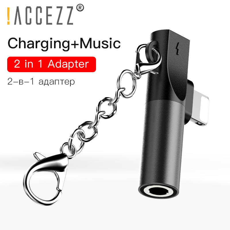 !ACCEZZ 3.5mm Jack Adapter To Lighting For IPhone XS Max XR X 8 7 Plus Audio Aux Splitter For Headphone Connector OTG Adapter