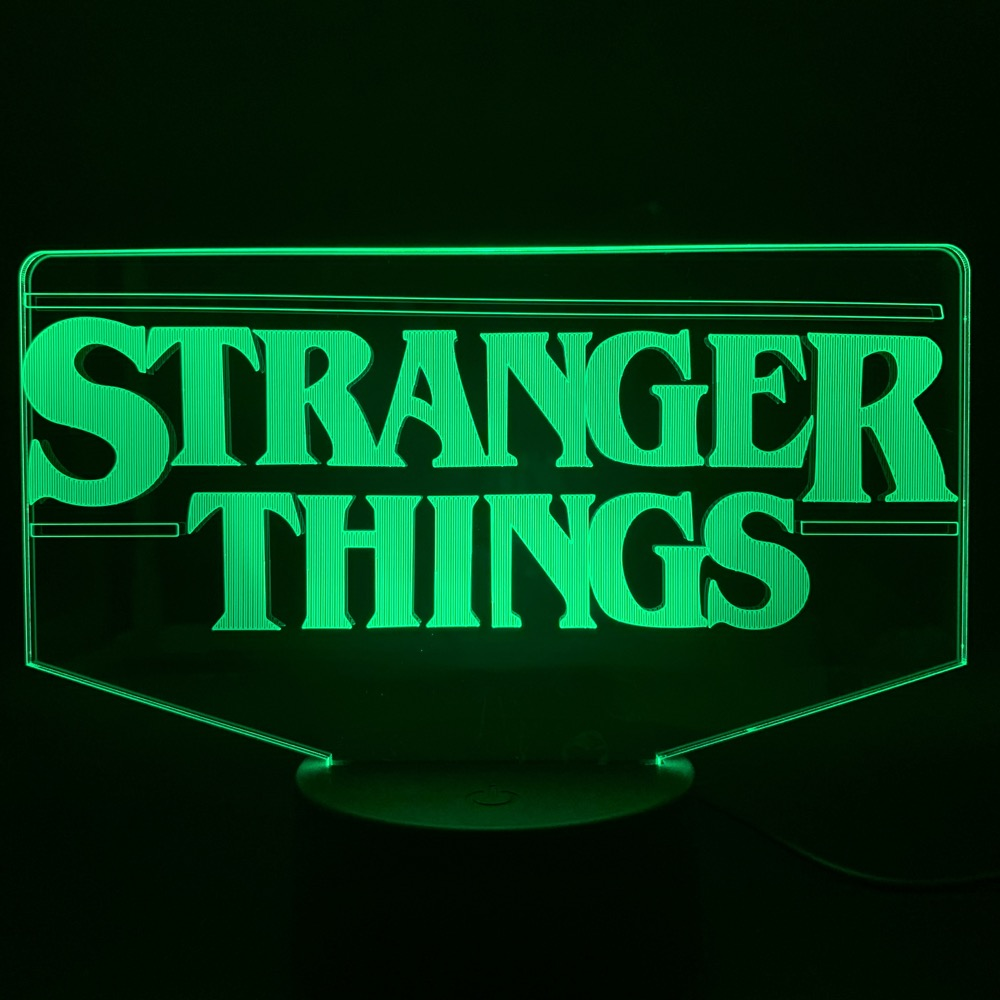 STRANGER THINGS GIFT TV SHOW LIGHT UP LED BOTTLE BIRTHDAY GIFT PERSONALISED GIFT