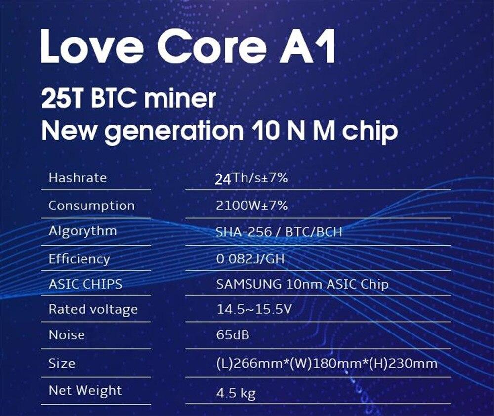 BTC BCH minero amor Core A1 minero Aixin A1 25T con PSU económico que Antminer S9 S11 S15 S17 T9 + T15 T17 WhatsMiner M3X - 6