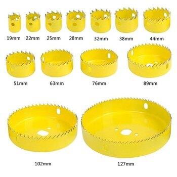Kit de foret de scie cloche coupe-tôle bois mandrins scies 3/4 pouces-5 pouces 12-18 pièces ensemble complet par foret pour la coupe du bois