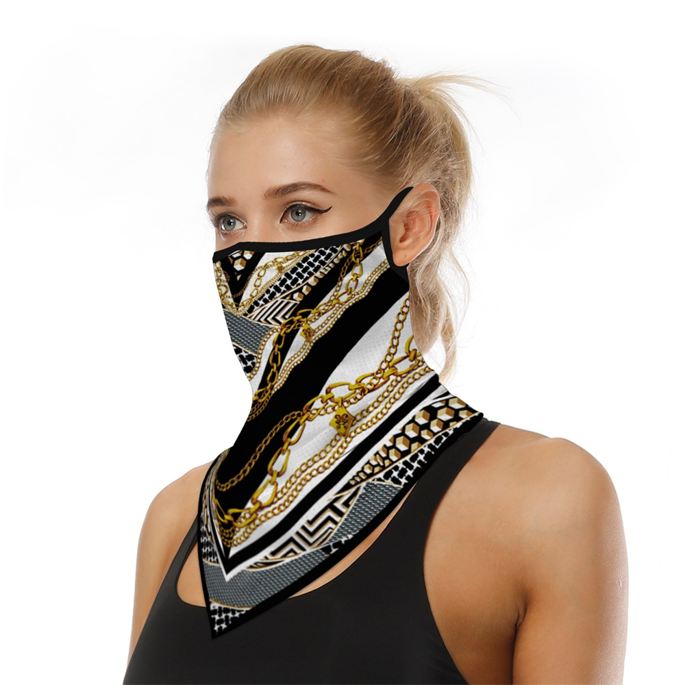 NEW Triangle Half Face Shield Men Women Breathable Sunscreen Balaclava Bandanas Scarf Sports Hanging Ear Face Mask Reusable(China)