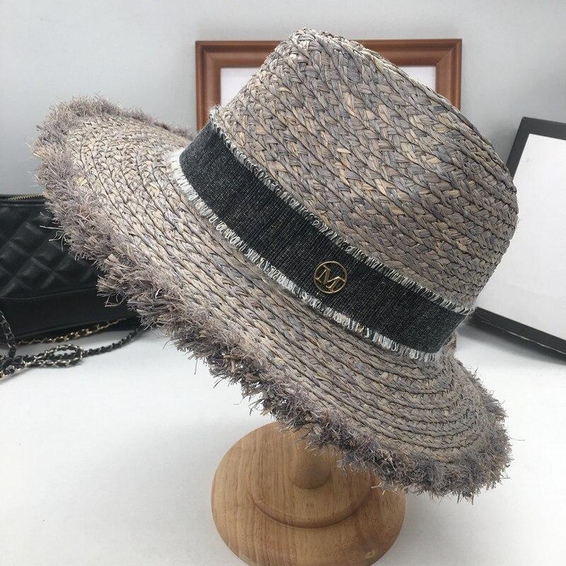 Sir Urlaub am meer lafite gras hut sonne hut faltbare traufe strand kappe grau-in Sonnenhüte aus Kleidungaccessoires bei AliExpress - 11.11_Doppel-11Tag der Singles 1