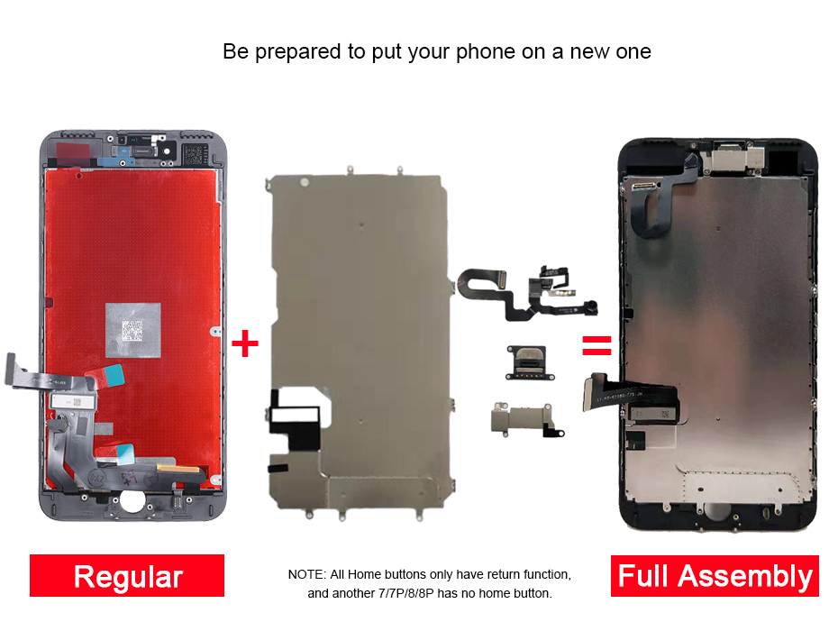 H36db2ad0dd6f46b882a5d270b89d04405 For iPhone 7/7 Plus LCD Full Assembly Complete AAA+ LCD  With 3D Touch Screen Replacement Display for iphone 7/7Plus LCD Camera