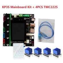 Kingroon 1Kit Moederbord KP3S Controller Tft V1.2 2.4 ''Lcd Touch Screen 24V Ultra Stille TMC2225 Drivers 3D Printer onderdelen