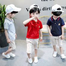 цена на Summer Children Fashion Clothes Suits Baby Boys Girls Casual T-Shirt Shorts 2Pcs/set Toddler Cotton Clothing Infant Tracksuits