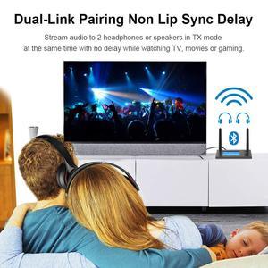 Image 3 - Transmisor receptor de Audio Bluetooth de largo alcance, 70M, para TV con antena Aptx HD, adaptador inalámbrico Spdif Optica AUX de baja latencia