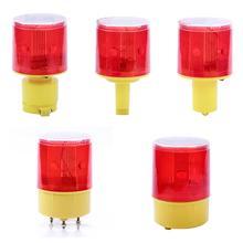 LED Solar Strobe Warning Red Light For Night Road Construction Cone Emergency Signal Safety Traffic Light Flicker Beacon Lamp