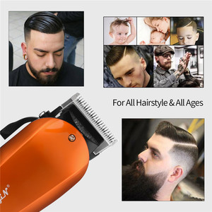 Image 4 - Ckeyin 220 240V Household Trimmer Professional Classic Haircut Corded Clipper for Men Cutting Machine with 4 Attachment Combs 40
