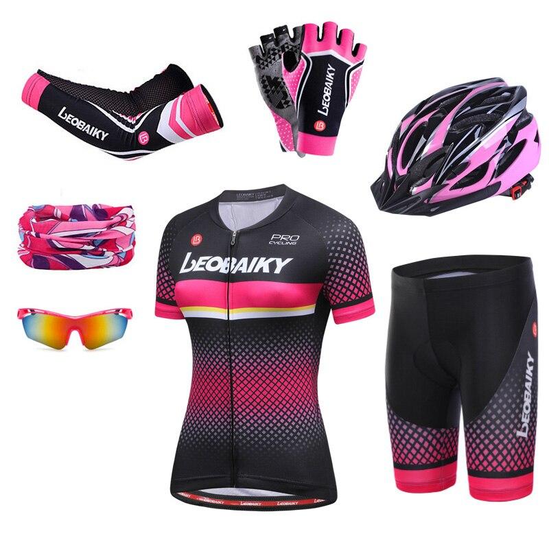 Cycling Dress Women Bike Clothing Mtb Wear Reflective Women's Cycling Jersey Shorts Set Bicycle Clothes Ladies Uniforme Ciclismo
