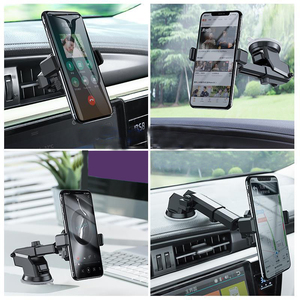 Image 5 - אוניברסלי רכב טלפון Stand אנכי שמשה קדמית הכבידה פרייר נשלף מתקפל וrotatable טלפון בעל