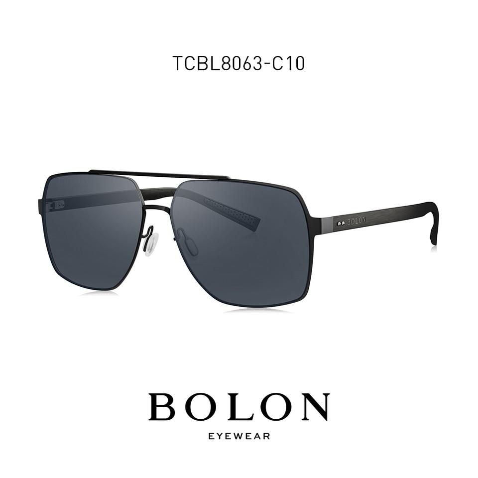BOLON Extra Large Sunglasses for Men Double-Bridge Navigator Sun Glasses (  Available to customize for Myopia ) BL9
