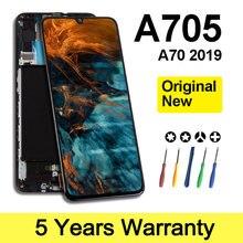 Lcd Original d'affaires en gros pour l'affichage de Samsung A705 avec l'écran de cadre pour le remplacement de Sm-A705F d'affichage à cristaux liquides de Samsung A705Fn