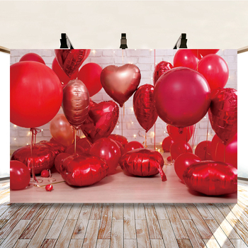 Yeele Valentines Day Love Heart Ballon Baby Birthday Photography Backdrop Photographic Decoration Backgrounds For Photo Studio