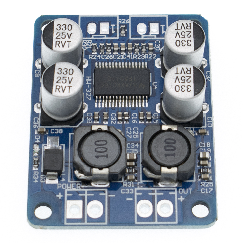 Image 5 - DC8 24V TPA3118 PBTL 60W Mono Digital Audio Amplifier Board AMP Module Chip 1X60W 4 8 Ohms-in Integrated Circuits from Electronic Components & Supplies