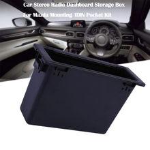 Montaż schowek dla Mazda Radio pojazdu Radio Dashboard schowek na rękawiczki akcesoria samochodowe dekoracja wnętrz Dropshipping