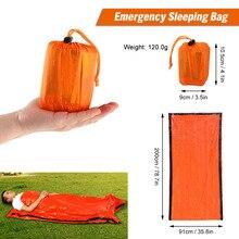 Outdoor Bivy Emergency Sleeping Bag Survival Blanket Kit Body Thermal Portable Waterproof Camping Hiking Emergency Sack Mylar
