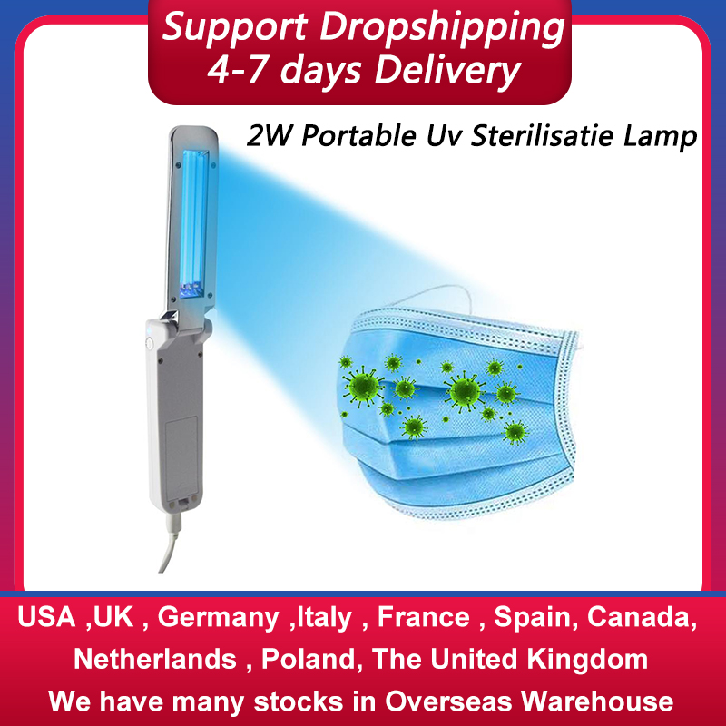 2W UV  Sterilizer Wand Lamp Portable  Phone Germicidal Light Usb Disinfection Bactericidal Lamp For Travel Home Office
