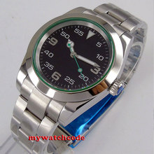 40mm bliger no logo black dial  luminous marks solid case date window sapphire glass automatic mens watch B179 46mm bliger blue dial date luminous marks sub automatic mens wrist watch