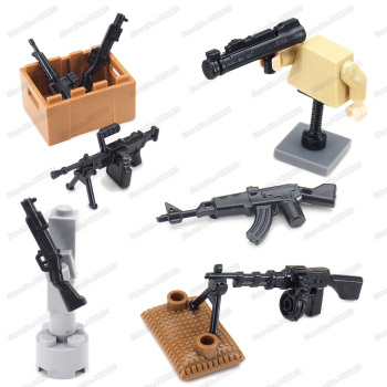Military Assembly RPD Light Machine Guns Weapons Equipment Building Block Set Moc Army WW2 Soldier Figures Model Child Gift Toys