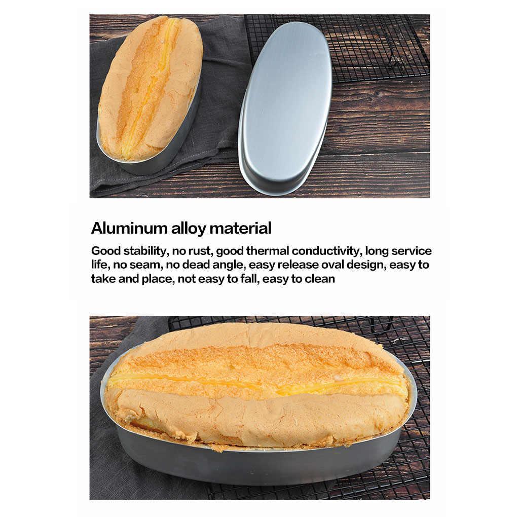 8 Inci Oval Bentuk Aluminium Baking Kue Cetakan DIY Roti Panci Kue Piring Nampan Baking Alat Cetakan Dapur Gadget