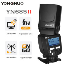 YONGNUO YN685II TTL Flash 2.4G Wireless HSS 1/8000s GN60 Master Speedlite Light For Canon 5D3 6D2 800D 77D 7D2 T4i T3i 1300D 70D