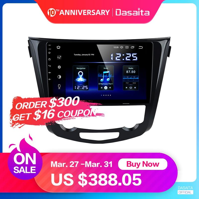 Dasaita carro multimídia android 9.0 para nissan x-trail qashqai j11 j10 rádio 2014 2015 2016 2017 2018 2019 gps 10.2