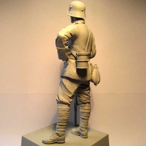 Image 4 - Figuras de resina 1:16 de 120MM, kit de soldados, máquina Gunner WW2 sin pintar y sin montar