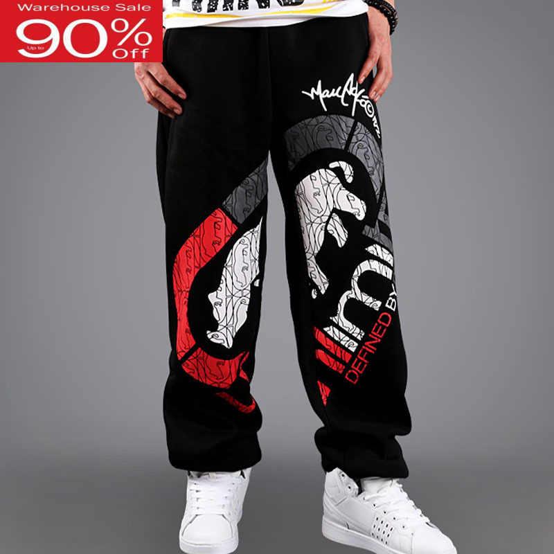 Męskie spodnie hiphop koreański styl 2020 nowa jesienna cienkie męskie spodnie moda luźne nastolatek plus rozmiar czarny dobrze się sprzedają