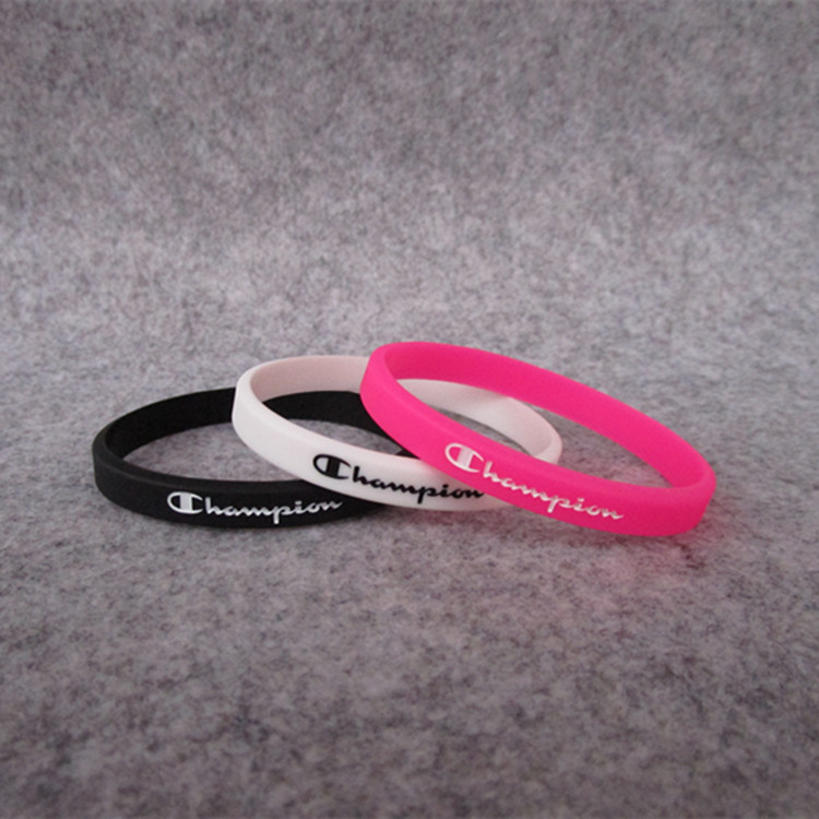 Sports Fashion-Basketball Enthusiasts Champion Bracelet CHAMPION Sports Wrist Strap Silica Gel Bracelet (Ball Game) Fan Supplies