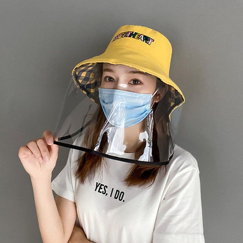 Women Anti Pollution Anti-fog Saliva Anti-spitting Protective Cap Outdoor Anti-fog Windbreaker Anti-fog Hat Face Cover Dropship