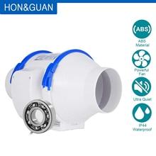 Hon& Guan 110 V встроенные вентиляторы, 4 ''~ 8'' встроенный воздуховод вытяжка вентилятор домашние бесшумные встроенные вентиляторы для ванной комнаты, теплицы, гидропоники