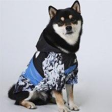 À prova de vento roupas de inverno do cão jaqueta de cachorro moda pet roupas para cães labrador médio grande reflexivo roupas ropa perro