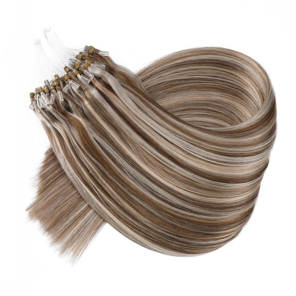 Various Colors 100% Human Hair Silicone Lined Micro Ring Micro Link Micro Beads Hair Extension 1g/strand Indian Human Hair