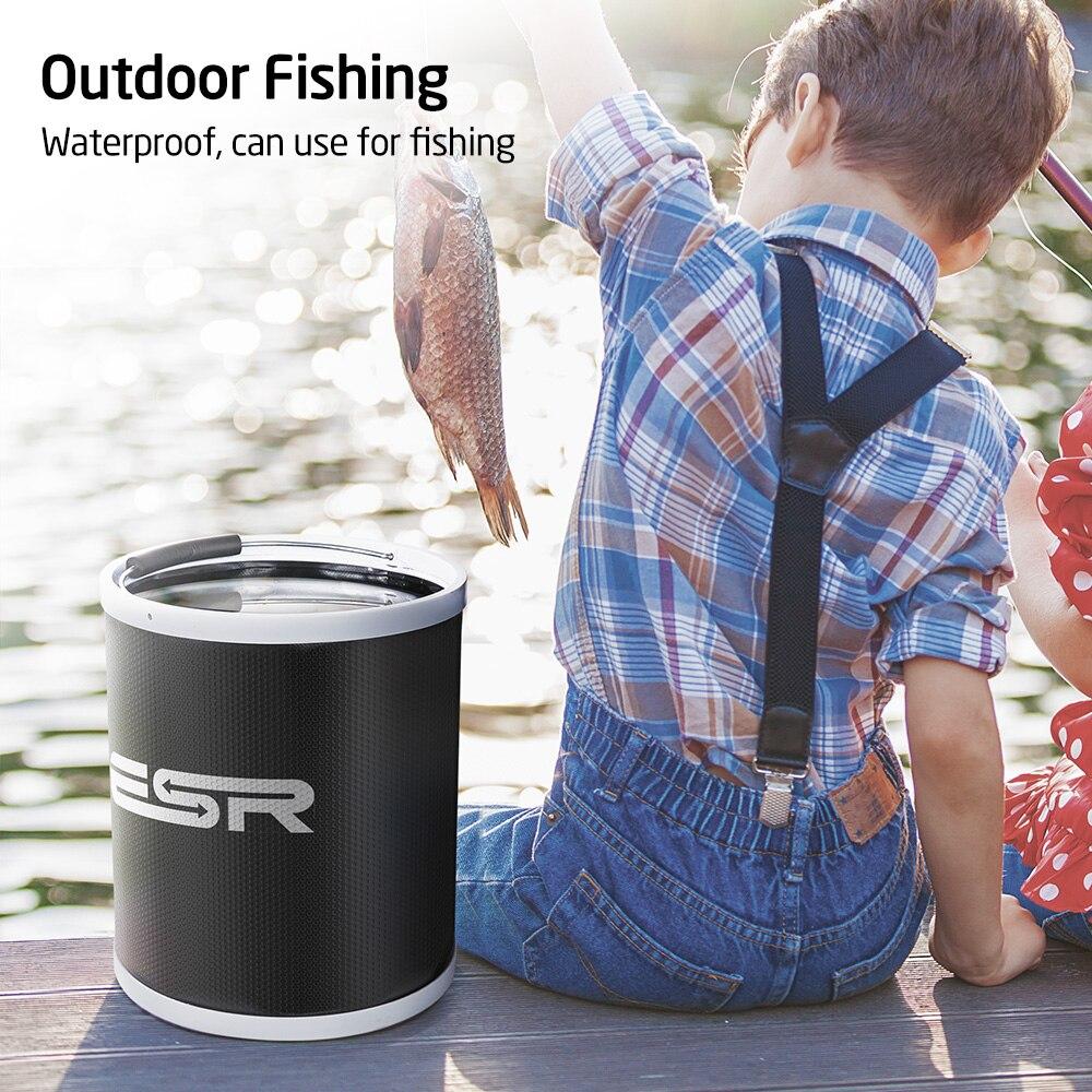 acampamento ao ar livre balde de pesca