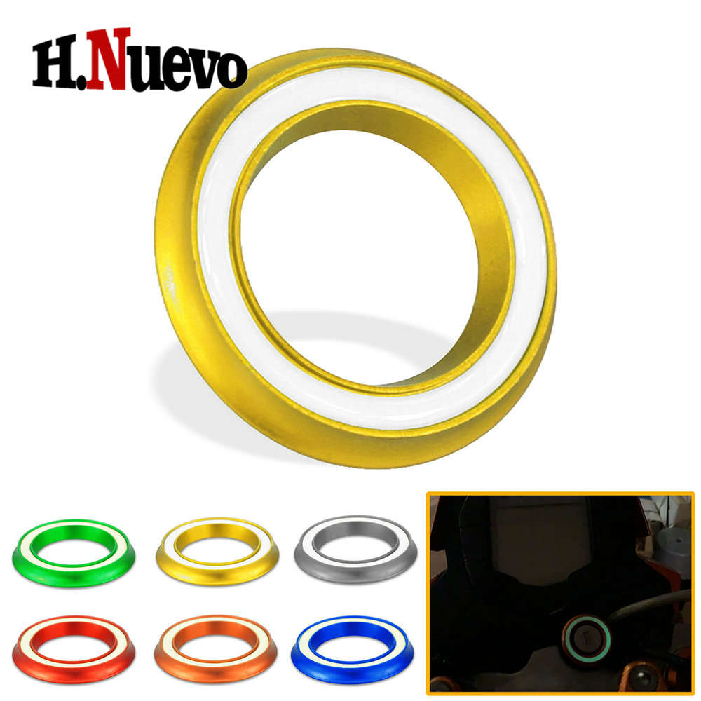 Motorcycle Ignition Switch Key Hole Cover Ring Cap Luminous For KTM DUKE RC 125 200 250 390 690 1090 2017 2018 2019 Accessories image