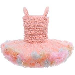 Vestido de princesa infantil para niña pequeña, tutú de pastel, para niña vestido de boda, Vestidos de fiesta de verano para niños, 1 año de cumpleaños