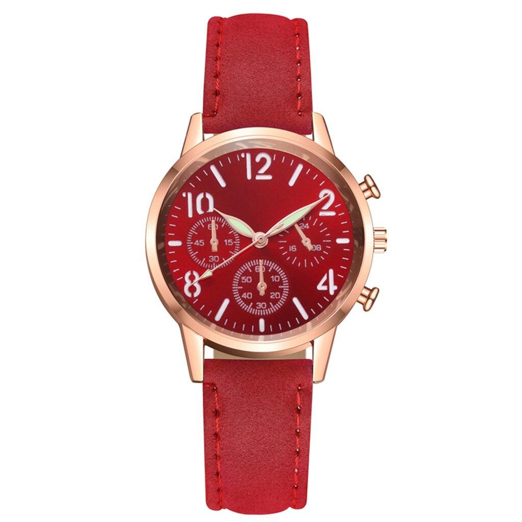 DUOBLA Women Watches Luxury Brand Ladies Watch Quartz Watch Fashion Geneva Leather Strap Luminous Dial Wrist Watches Women