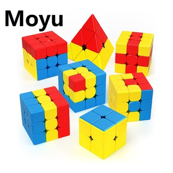 Moyu Children Teaching Puzzles Series 3x3x3 Cubo Magico Unicorn Pudding Bumpy Little Red Hat Magic Cube Set Speed Education Toys