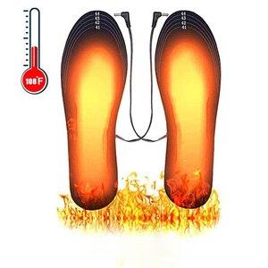 USB с подогревом обувные стельки ноги в тепле носки коврик с электрическим обогревом стирать в теплой Термальность стельки унисекс нагреваемая стелька