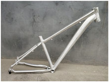 アルミ26 / 27.5er 16In Blank DIY No Painting MTB Bike Frame with Hook Disc Brake Mountain自転車フレームセット(China)
