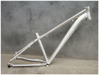 Aluminum 26/27.5er 16In Blank DIY No Painting MTB Bike Frame with Hook Disc Brake Mountain bicycle frameset