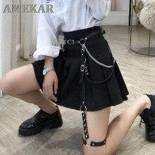 Cinto de couro gótico do punk com cinto harajuku harajuku cinto de perna correia da cintura do corpo jk vestido jeans magro bondage legal cós