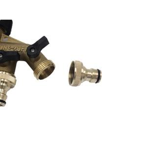 Image 3 - 1PC 4 Way Brass Tap Adaptor Hose Valve Manifold Hose Splitter Tap Adaptors Hose End Fittings Four Channel Water Distributor