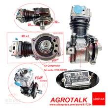 F3100 3509100C空気圧縮機yuchaiエンジン、古い空気圧縮機の銘板を確認してください
