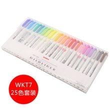 Zebra mildliner series wkt7 маркер с двойной головкой marker