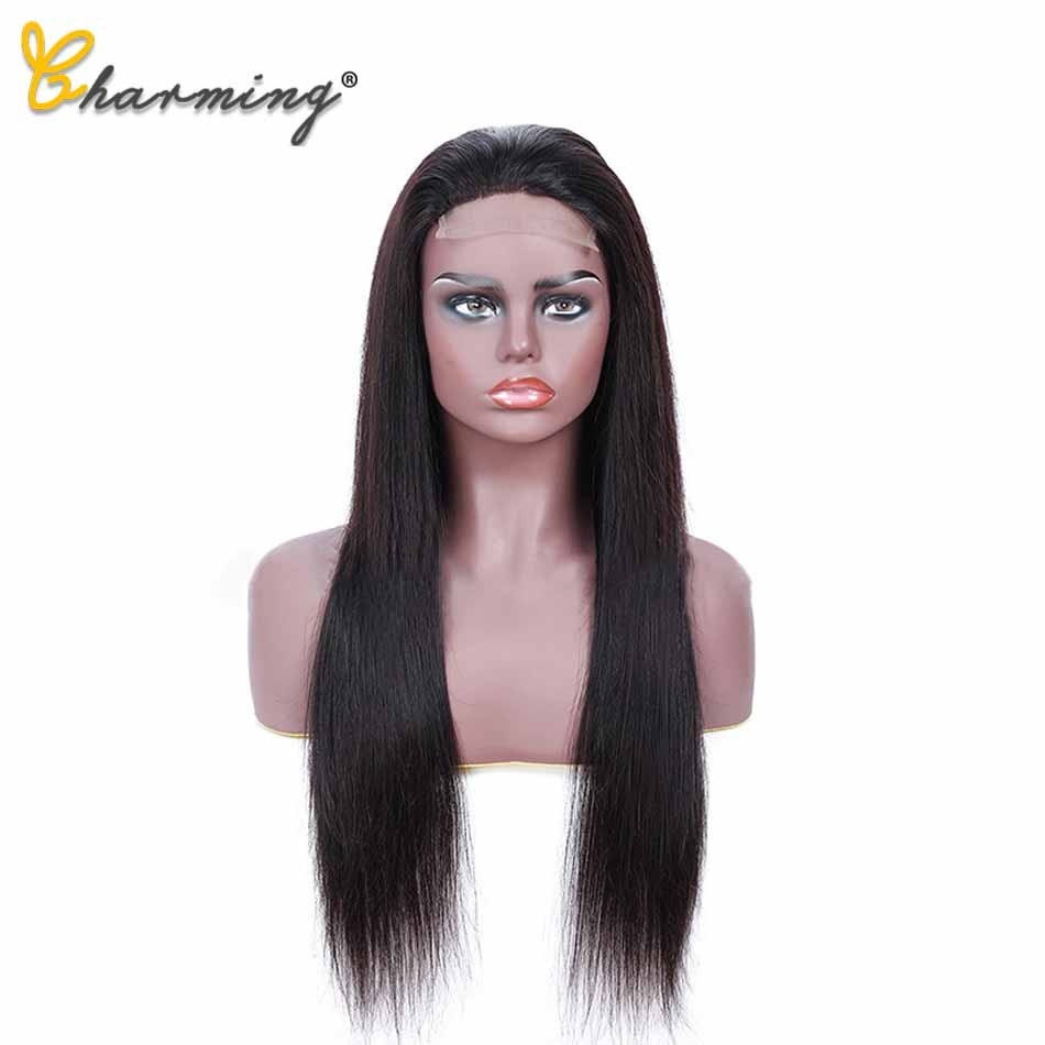 CHARMING Hair 13*4/4*4 Lace Front Human Hair Wigs Pre Plucked Brazilian Remy Hair Lace Wig Straight Lace Front Wig