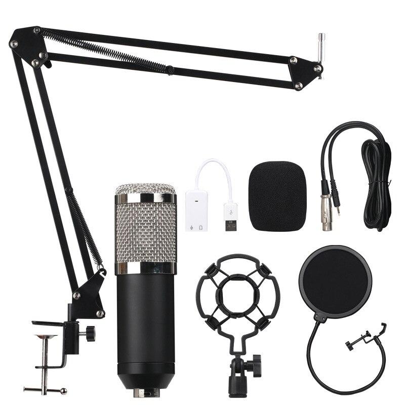 B. BMIC Bm800 condensateur Microphone enregistrement sonore Bm 800 Microphone Ktv karaoké ensemble de Microphone micro avec support pour ordinateur