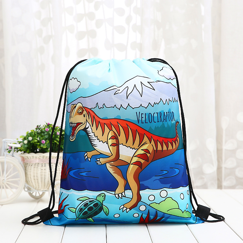 Drawstring Student Dinosaur Tyrannosaurus Rex Backpack Fashion Women 3D Printing  Knapsack Men Casual Bags Women's Shoulder New