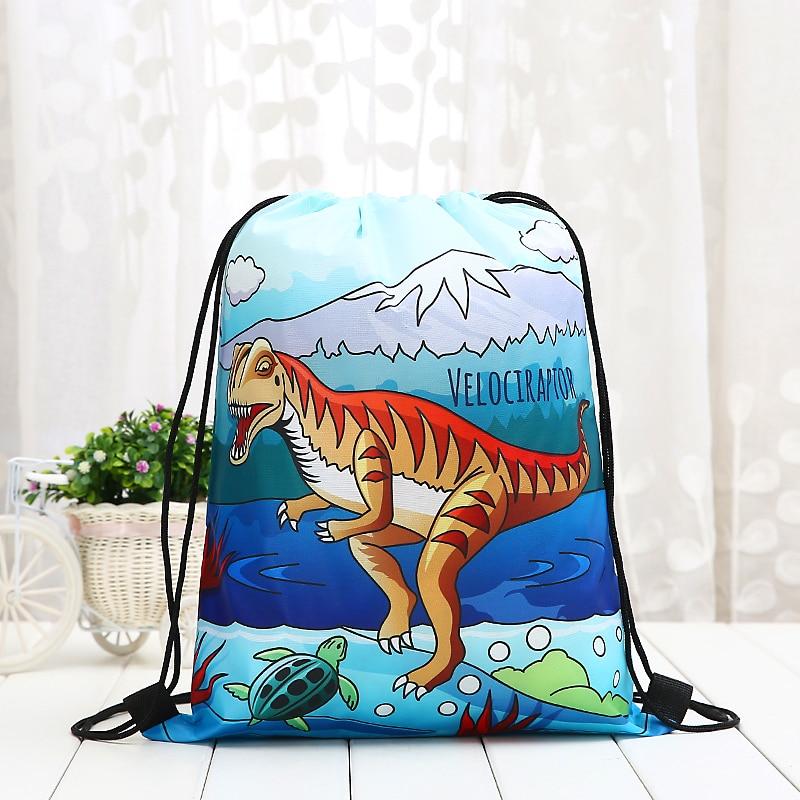 Drawstring Student Dinosaur Tyrannosaurus Rex Backpack Fashion Women 3D Printing  Knapsack Men Casual Bags Women's Shoulder New